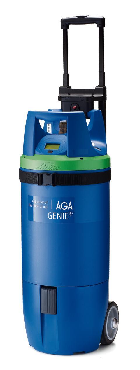GENIE® gasflaska - teleskophandtag och hjul