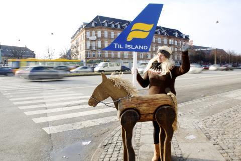 Icelandair - nu med håndbygget hest