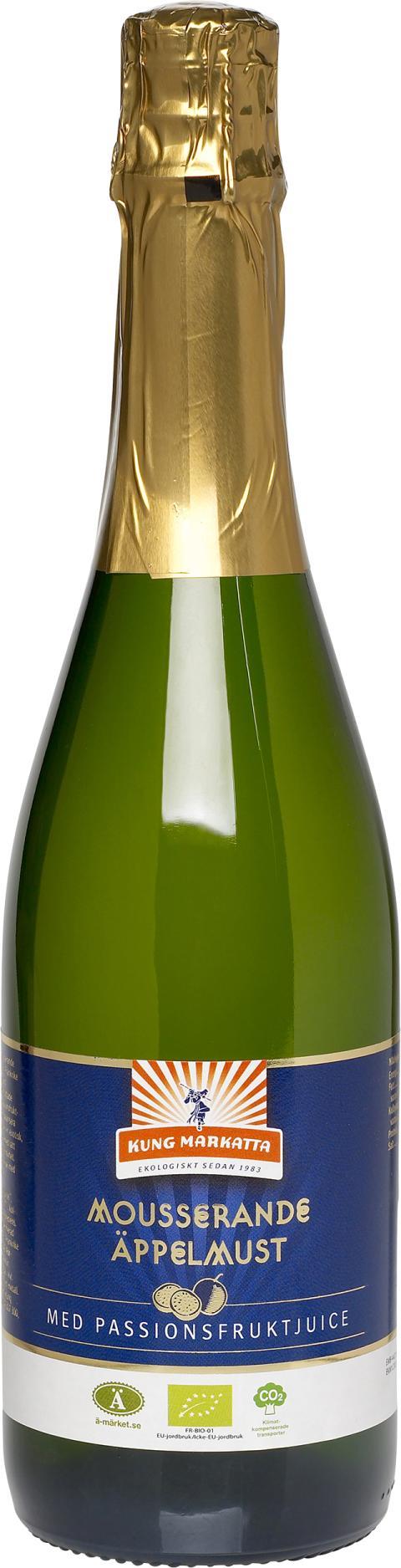 Kung Markatta Mousserande Äppelmust med passionsfruktjuice, 750 ml