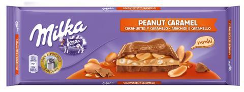 Milka vuelve a lo grande con una nueva tableta con cacahuetes y caramelo