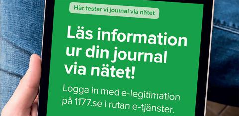 Nu inför vi Journal via nätet