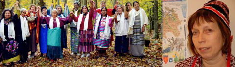Samiska Grandmothers och gäster välkomnar The International Council of 13 Indigenous Grandmothers till Sverige.