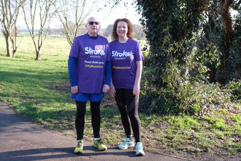 ​Whiteley father and daughter take on the Resolution Run for the Stroke Association