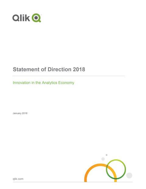 2018 Qlik Statement of Direction