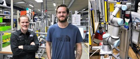 CEJN utrustar sin produktion med kollaborativa robotar för ökad säkerhet, kvalitet och produktivitet.