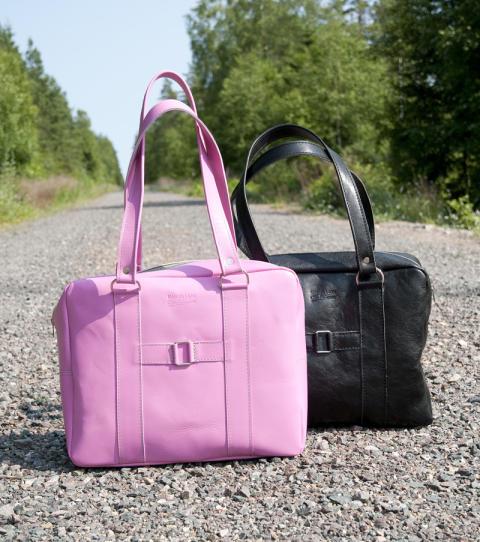 Ny handväska i sommarglada färger från Målerås Läder