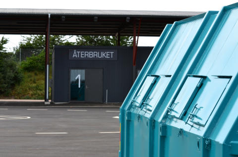 NSR:s nya återvinningscentral för privatpersoner i Ängelholm