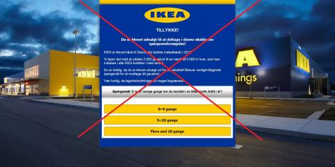IKEA advarer mod spam mails