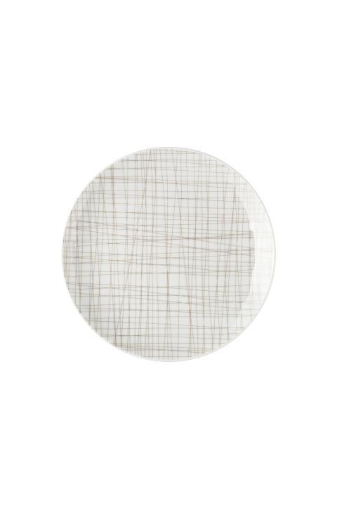 R_Mesh_Line Walnut_Plate 21 cm flat
