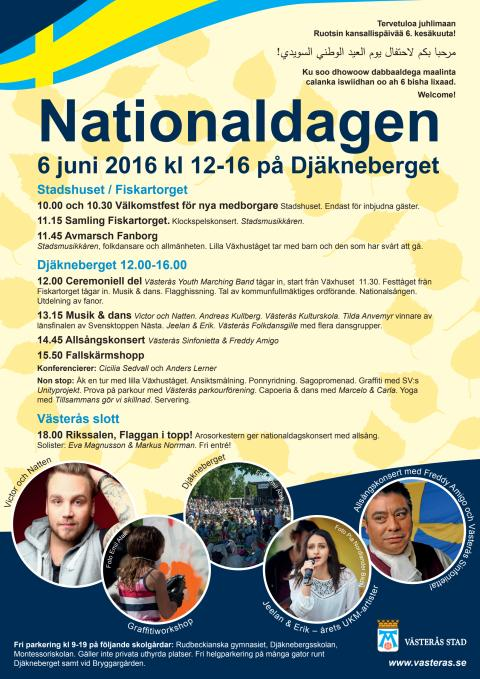 Program för nationaldagen 6 juni 2016