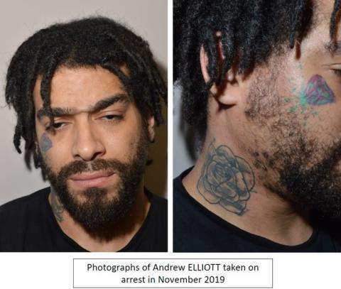 Elliott's tatoos taken arrest