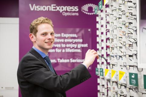 Local MP Jack Brereton is guest of honour at opening of new Vision Express optical store in Longton