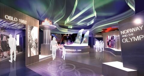 Illustrasjon av nye Norges Olympiske Museum