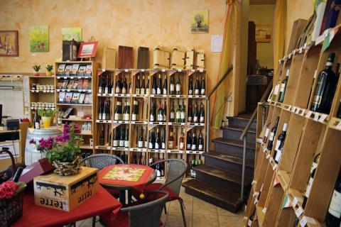 Weinangebot im Weinhaus Vogler