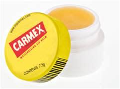 Carmex lipbalm - åpen krukke