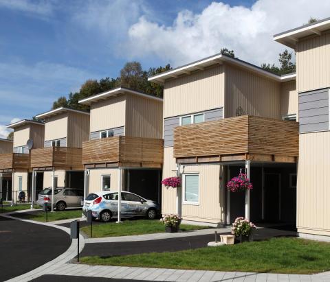 Visning 10 november kl 13-14 Nybyggda radhus och lägenheter i Bergsjön