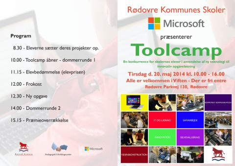 Program for Tool Camp i Viften d. 20. maj