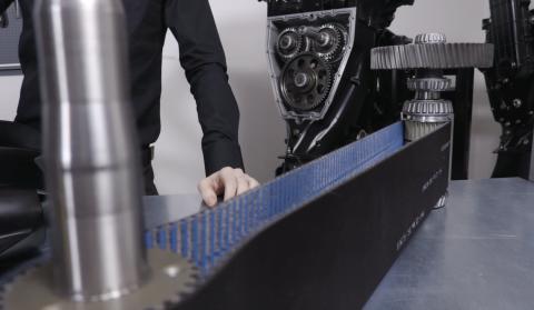 The belt transmission used in the OXE Diesel eliminates weak bevel gears