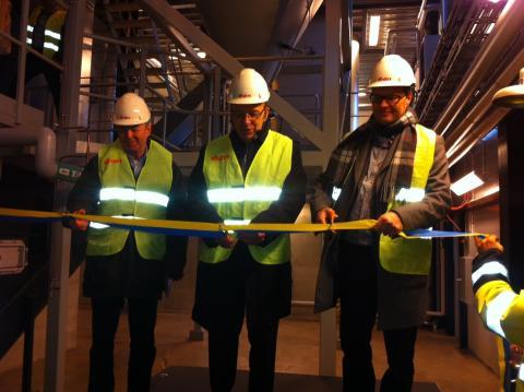 Mer energi med lokalt bränsle när E.ONs nya biobränslepanna invigdes i Boxholm