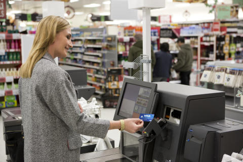 Paiement sans contact - Supermarché / épicerie