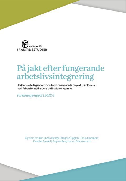 Frukostseminarium: Jakten på framgångsrik arbetslivsintegrering – en utvärdering av projekt som ska leda till arbete