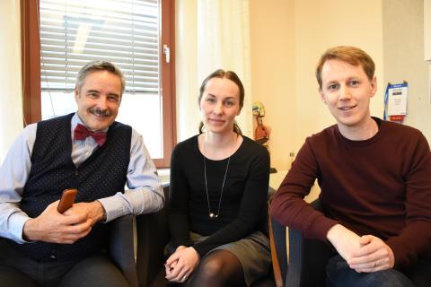 Steven J Linton, Sofia Bergbom och Tobias Wiklund.