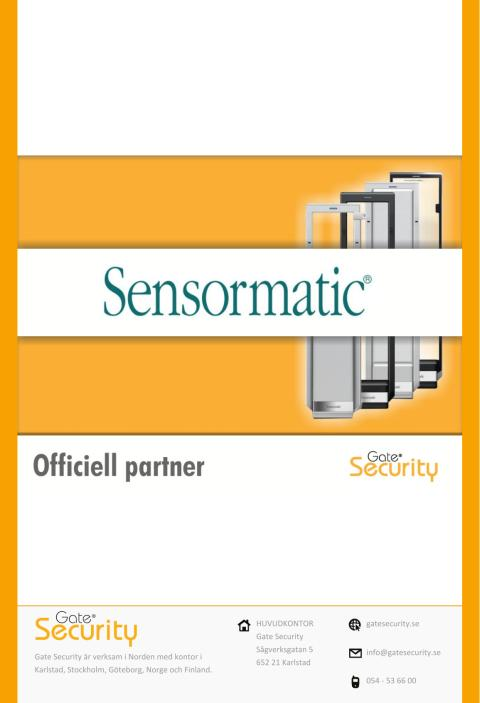 PDF: Sensormatic väljer Gate Security som ny partner i Sverige!