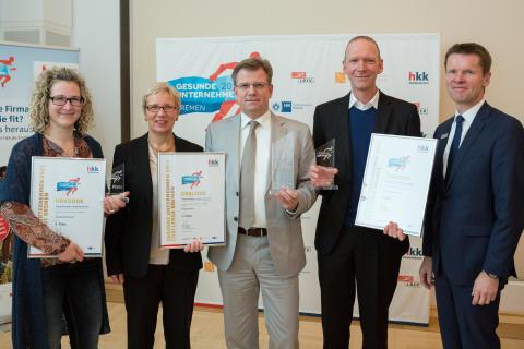 Bremer Firmen gewinnen 17.500 Euro für betriebliches Gesundheitsmanagement