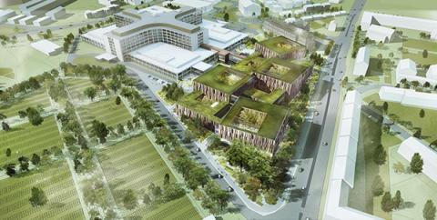 Tyréns konstruerar den nya sjukhusbyggnaden i Helsingborg