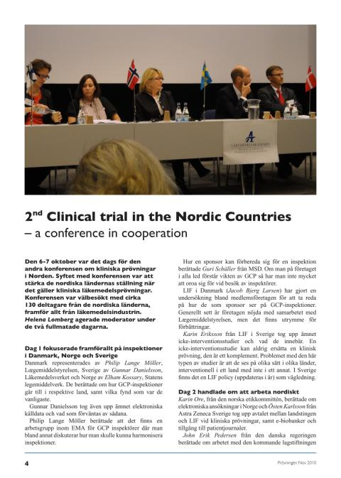 2nd conference on Clinical Trials in the Nordic Countries