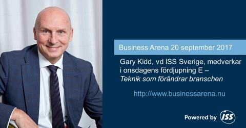 ISS deltar med talare på Business Arena i Stockholm