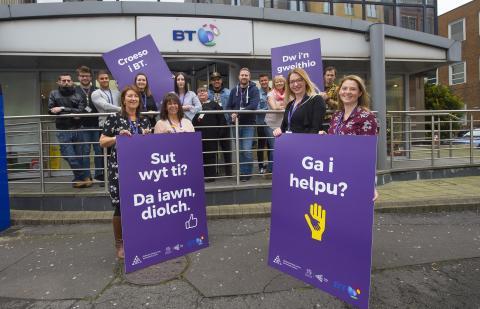 Siarad Cymraeg - BT signs up for Work Welsh