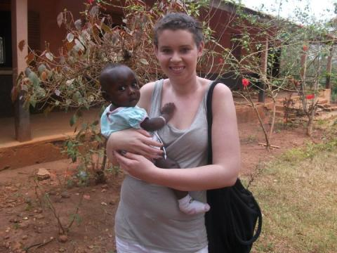 Katie on her gap year in Ghana