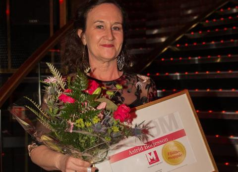 Vår volontär Astrid vann priset för årets hjältemappie