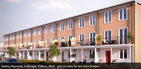 Ny typ av radhus i Järvastaden kvartetet Villastråket
