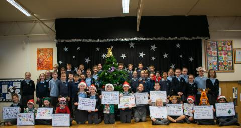 Skyswood Primary School children share Christmas wishes to raise awareness of charity appeal