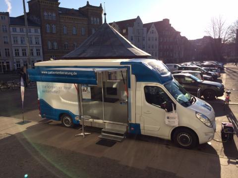 Beratungsmobil der Unabhängigen Patientenberatung kommt am 4. Juli nach Stralsund.
