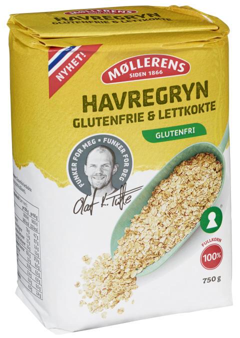 Havregryn Glutenfri og Lettkokte, 750 gr