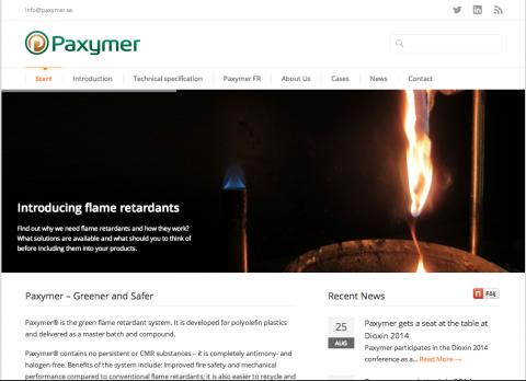 New Paxymer Webpage - all you need to know about green flame retardants