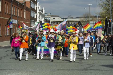 Over the Rainbow – hundreds enjoy Bury Pride
