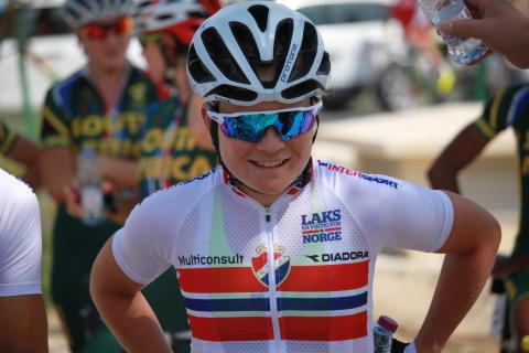 Emilie Moberg under sykkel-VM 2016