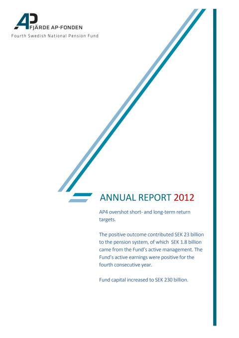 AP4 Annual Report 2012