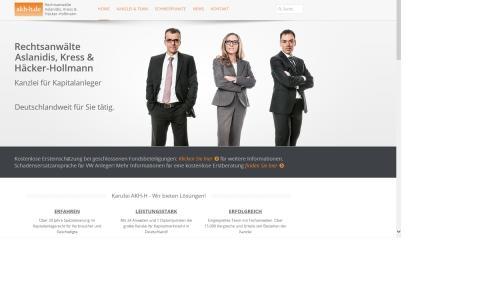Kanzlei Aslanidis, Kress & Häcker-Hollmann verhilft Anleger zu seinem Recht - Landgericht Hamburg verurteilt Credit Suisse