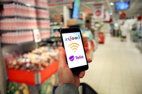 Axfoods butiker digitaliseras med hjälp av Telia