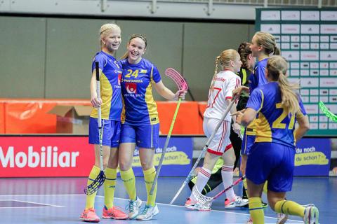 Therese Gustafsson glänste när Sverige vann