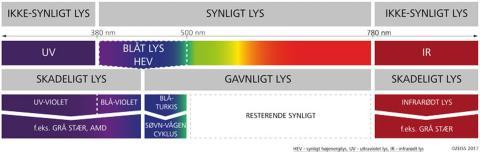 synligt ljus UV-ljus