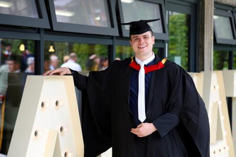 Northumbria University Maths graduate Jack Clare