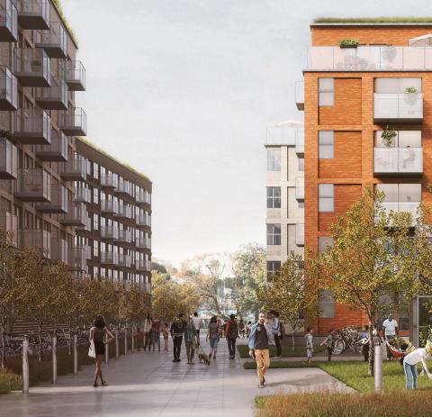 White ritar fyra bostadskvarter i Pedagogen Park åt Skanska Nya Hem
