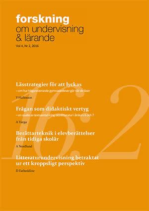 Nytt nummer av Forskning om undervisning och lärande, 2016: 2, vol. 4