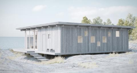 Modernism i skärgårdsnatur. Ny Skandinavisk Sommarvilla på 117 kvm från Sommarnöjen.